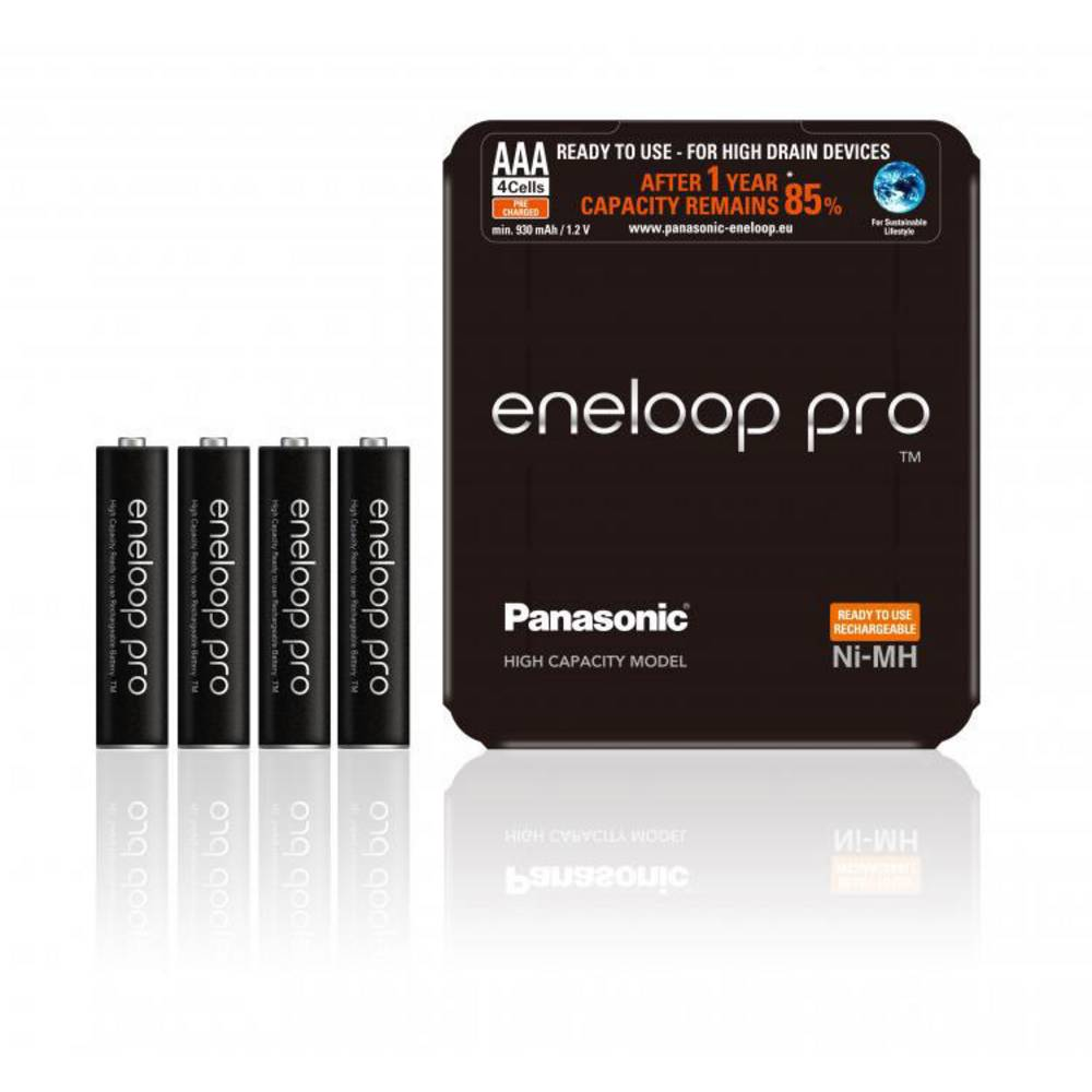 Panasonic eneloop Pro HR03 Storage Laddbart batteri AAA (R03) NiMH 900 mAh 1.2 V 4 st