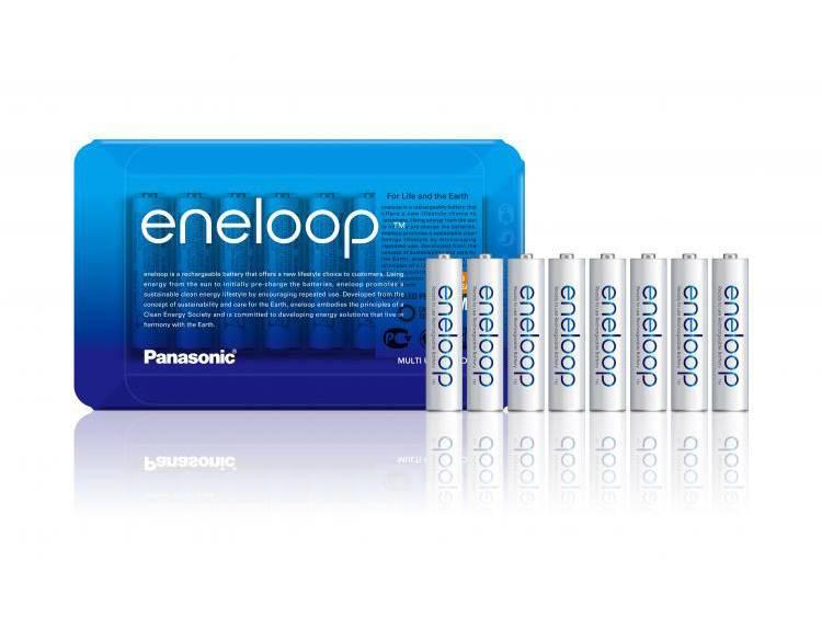 1x8 Panasonic Eneloop Micro AAA 750 mAh Sliding Pack
