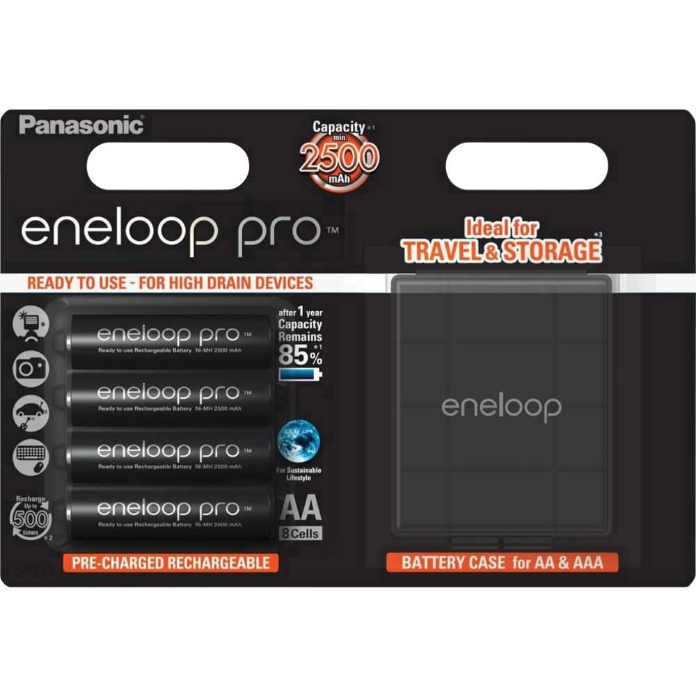 Panasonic eneloop Pro HR06 Box Laddbart batteri AA (R6) NiMH 2500 mAh 1.2 V 4 st