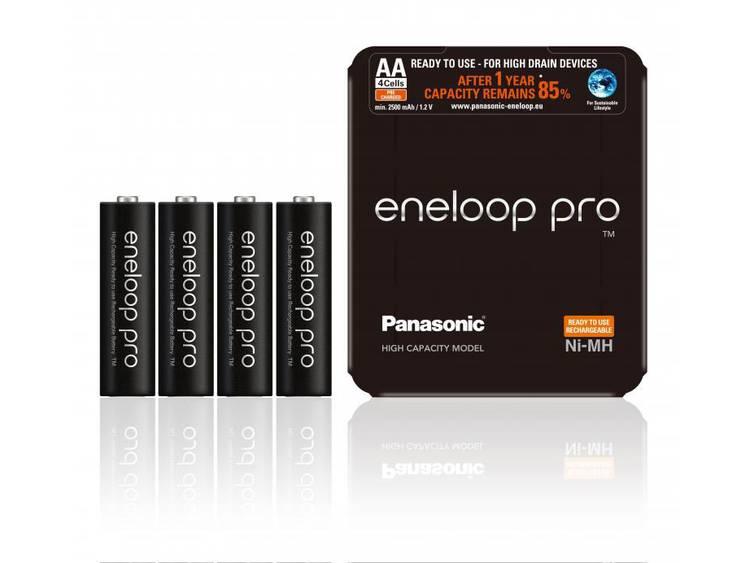 Panasonic Eneloop Pro Oplaadbare AA Batterijen BK-3HCDE-4LE 2500mAh 1x4