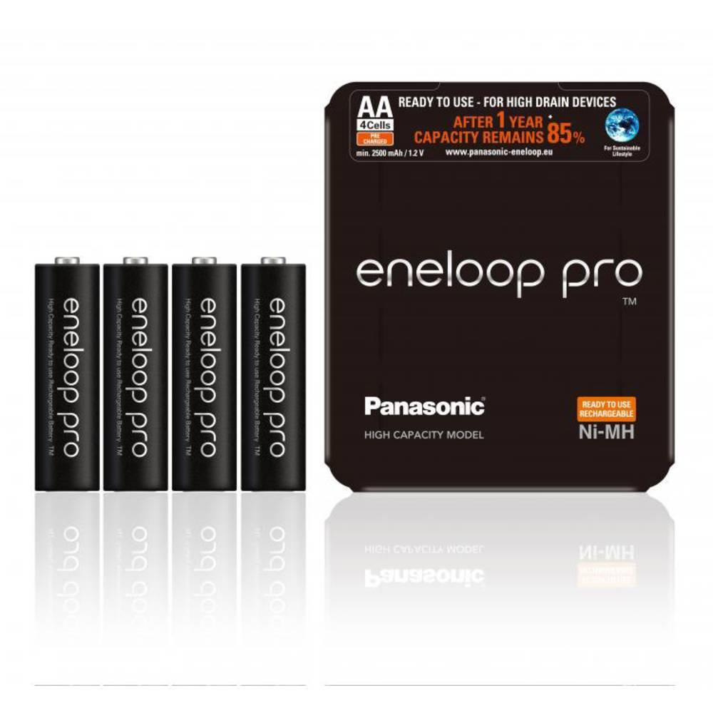 Panasonic eneloop Pro HR06 Storage Laddbart batteri AA (R6) NiMH 2500 mAh 1.2 V 4 st