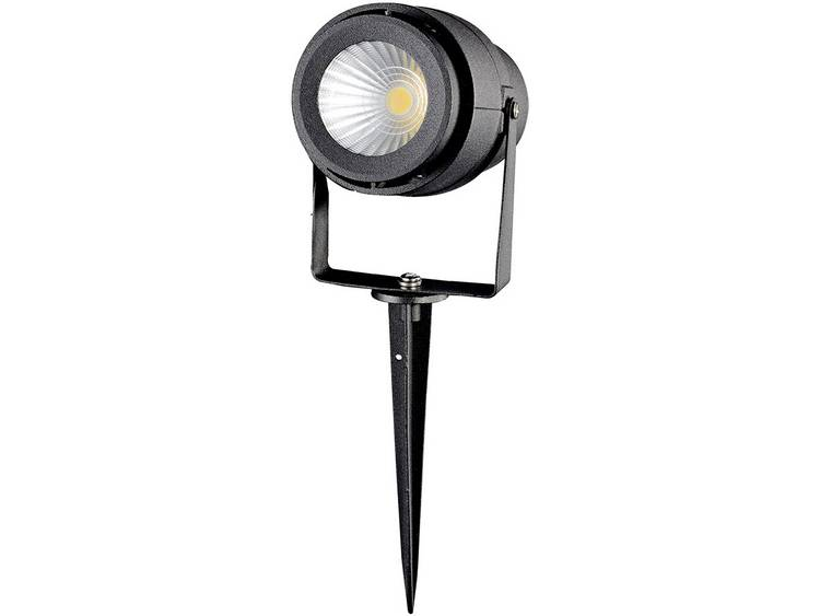 V-TAC VT-857-B ww LED-tuinschijnwerper LED 12 W Warm-wit Zwart