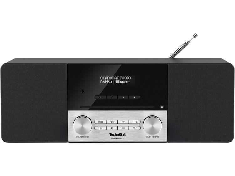TechniSat DIGITRADIO 3 DAB+ Tafelradio AUX, Bluetooth, CD, FM, USB Zwart