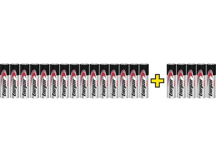 Energizer Max LR06, 15+5 gratis AA batterij (penlite) Alkaline 1.5 V 20 stuk(s)