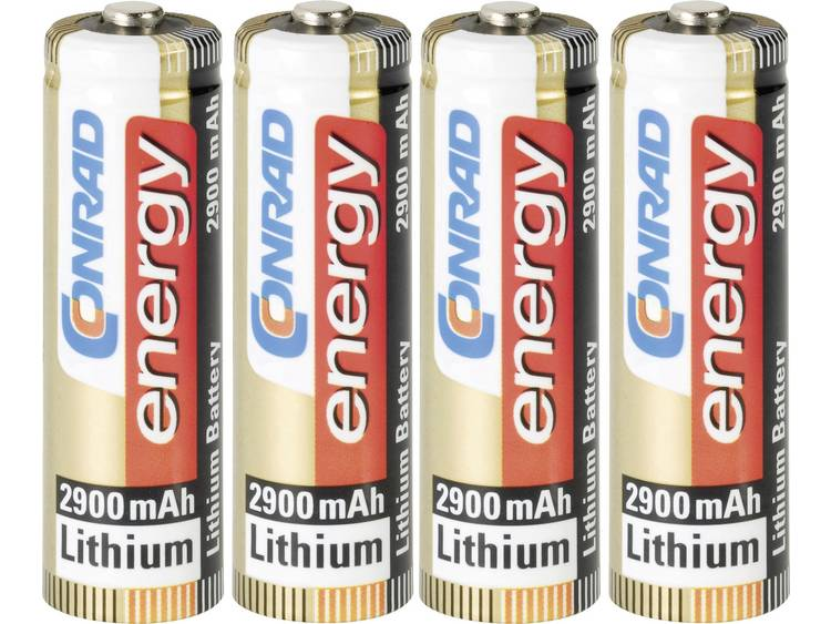 Conrad energy Extreme Power FR6 AA batterij (penlite) Lithium 2900 mAh 1.5 V 4 stuk(s)