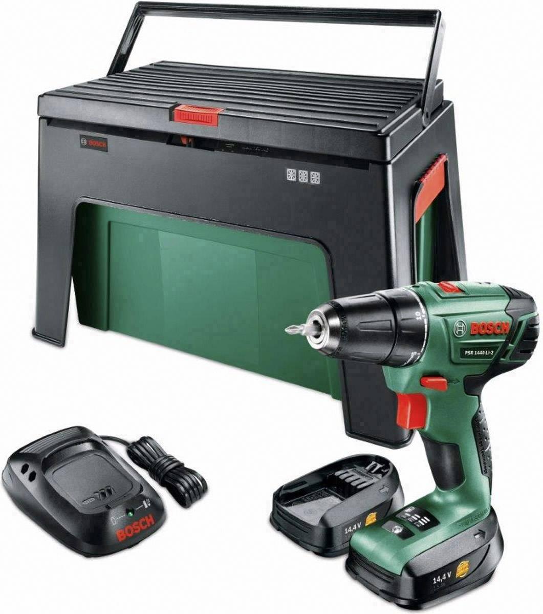 Zeer Accuschroefboormachine Bosch Home and Garden PSR 1440 LI-2 Incl. 2 EL51