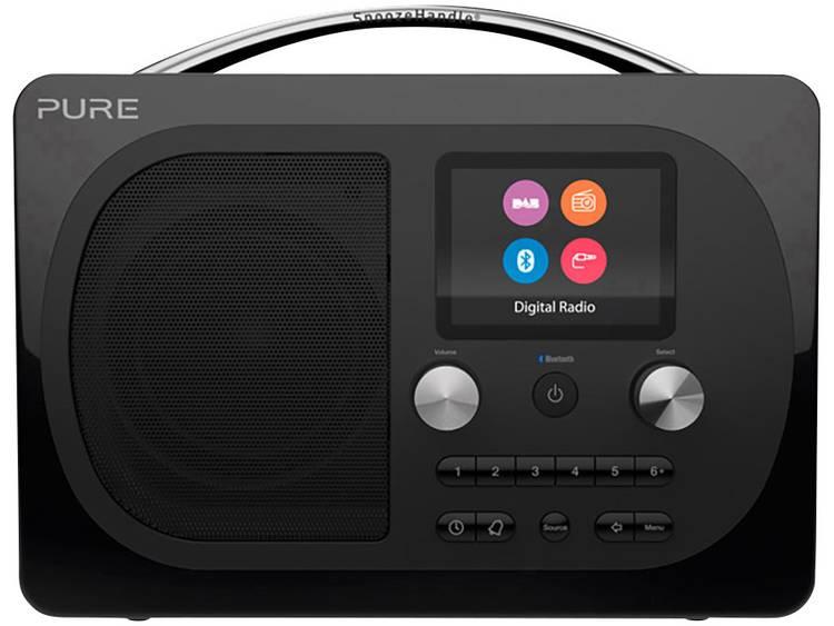 Pure Evoke H4 Prestige Tafelradio DAB+, FM AUX, Bluetooth Herlaadbaar Zwart