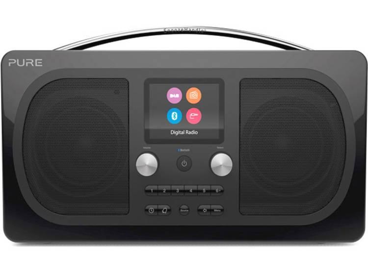 Pure Evoke H6 Prestige DAB+ Tafelradio AUX, Bluetooth, FM Herlaadbaar Zwart
