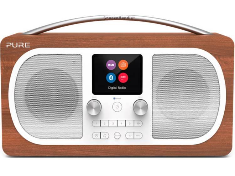 Pure Evoke H6 Tafelradio DAB+, FM AUX, Bluetooth Herlaadbaar Walnoot