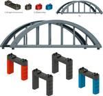 H0 modulaire set verhoogde spoorbrug