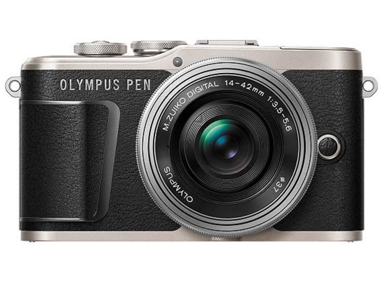 Systeemcamera Olympus E-PL9 Pancake Zoom Kit 16.1 Mpix Zwart, Zilver Touch-screen