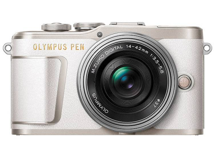 Systeemcamera Olympus E-PL9 Pancake Zoom Kit 16.1 Mpix Wit, Zilver Touch-screen
