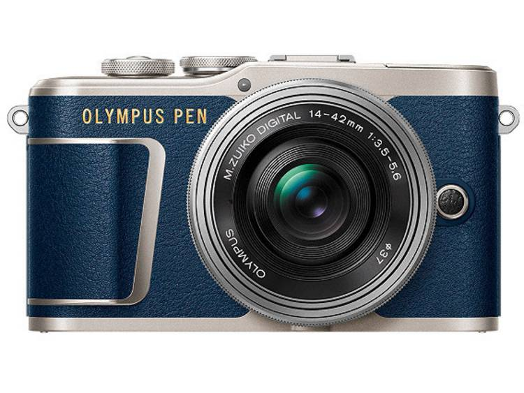 Systeemcamera Olympus E-PL9 Pancake Zoom Kit 16.1 Mpix Blauw, Zilver Touch-screen