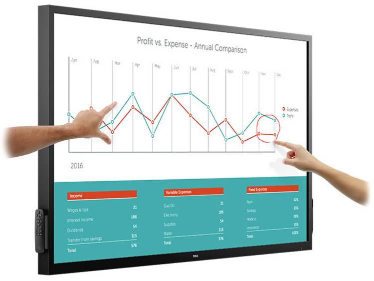 Dell C7017T Digital Signage display 178 cm 70 inch Energielabel: A (A++ – E) 1920 x 1080 pix Geïntegreerde luidspreker, Multi-touch