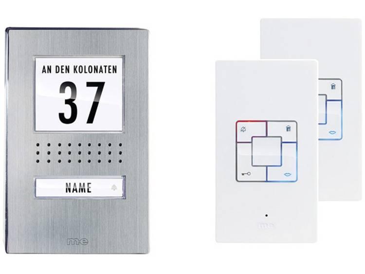 m-e modern-electronics 41166 Deurintercom Kabelgebonden Complete set voor RVS, Wit