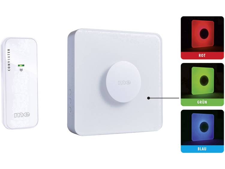 m-e modern-electronics 41162 Complete set voor Draadloze deurbel Verlicht