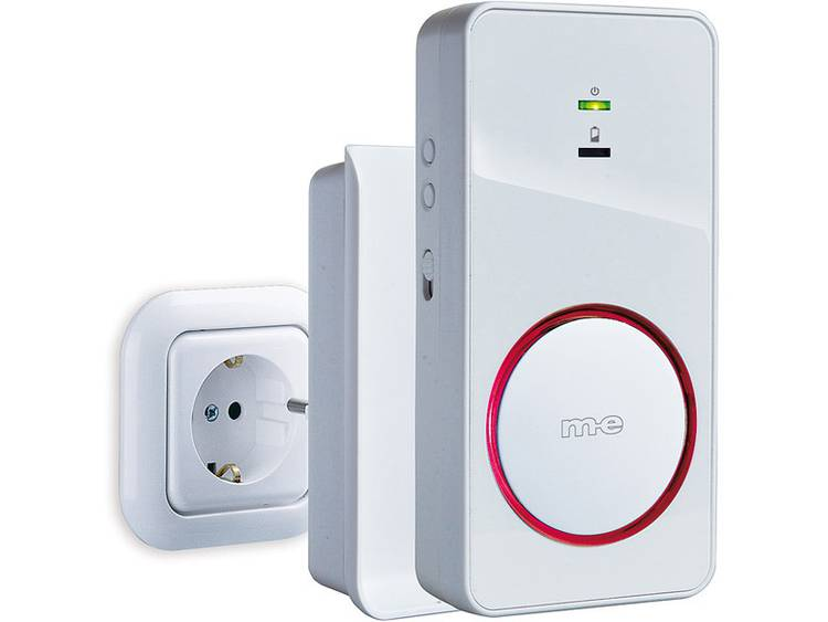 m-e modern-electronics 41151 Ontvanger voor Draadloze deurbel Verlicht