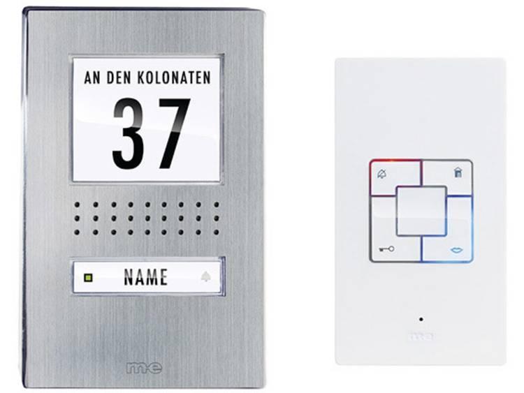 m-e modern-electronics 41165 Deurintercom Kabelgebonden Complete set voor RVS, Wit