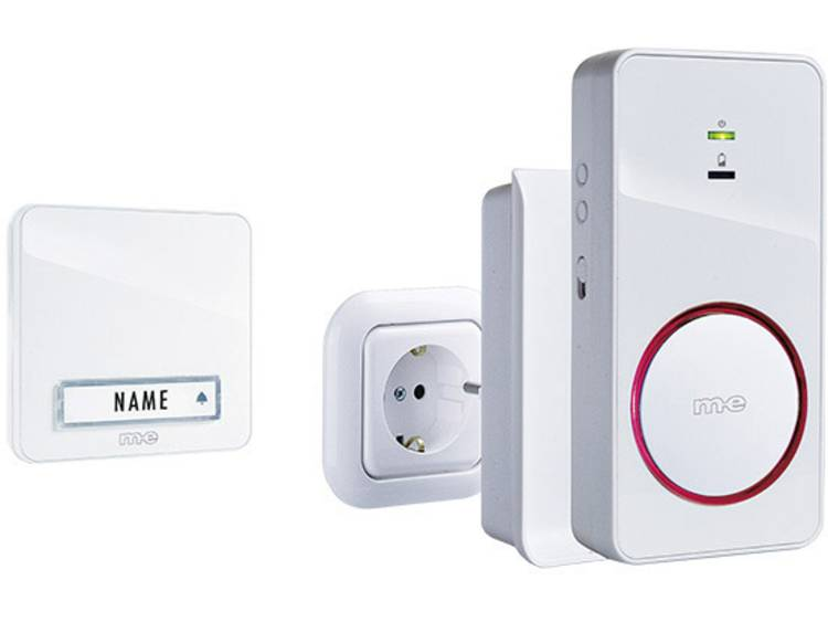 m-e modern-electronics 41152 Complete set voor Draadloze deurbel Verlicht