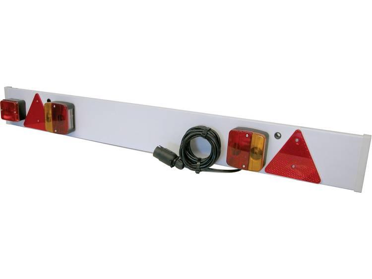 Gloeilamp Aanhangerverlichtingsset Knipperlicht, Remlicht, Reflector achter 12 V Wit HP Autozubehör Incl. verlichtingsbalk