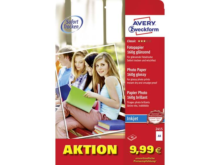 Avery Zweckform Photo Paper glossy 2415 Fotopapier DIN A4 160 g m² 40 vellen gl