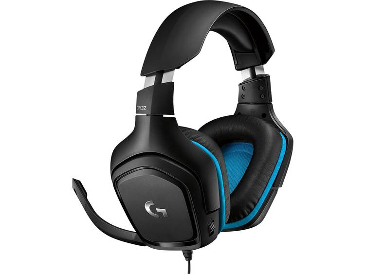 Logitech Gaming G432 Gaming headset 3.5 mm jackplug Kabelgebonden Over Ear Zwart, Blauw