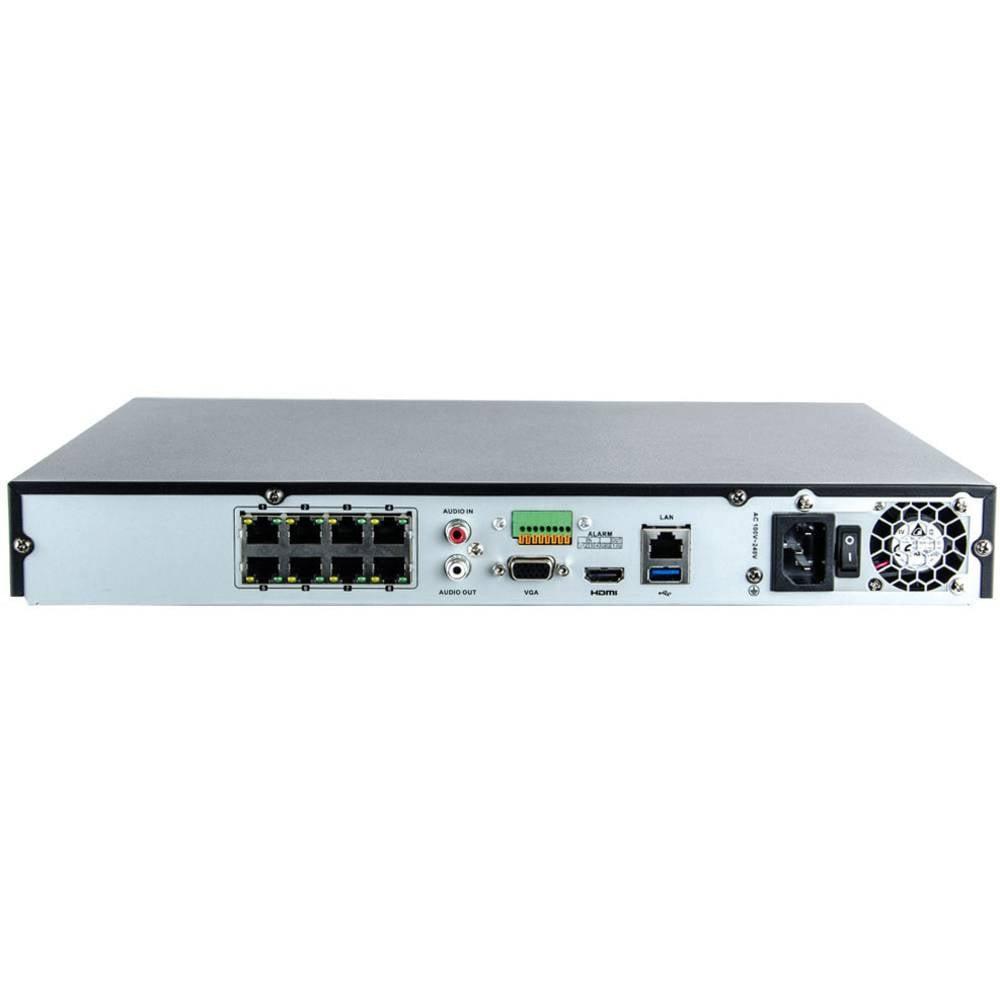 8 kanaler Nätverks-videokamera Inkovideo NVR-4K-8P