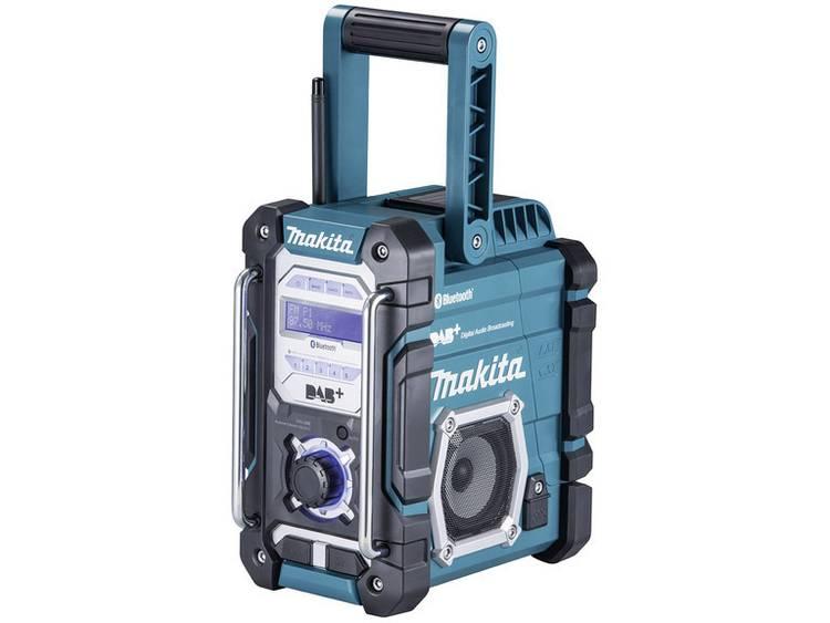 Makita DMR112 DAB+ Bouwradio AUX, Bluetooth, FM, USB Spatwaterbestendig Turquoise, Zwart