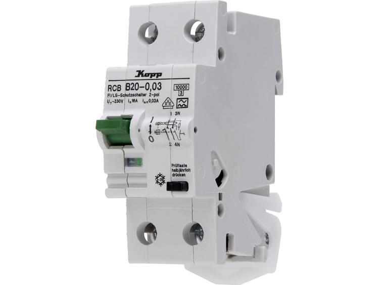 Kopp 742015010 Aardlekschakelaar-zekeringautomaat 20 A 0.03 A 230 V