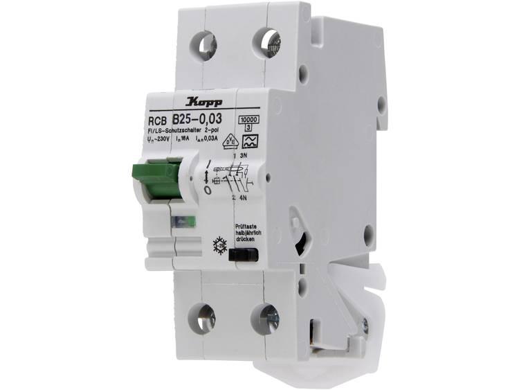 Kopp 742515015 Aardlekschakelaar-zekeringautomaat 25 A 0.03 A 230 V