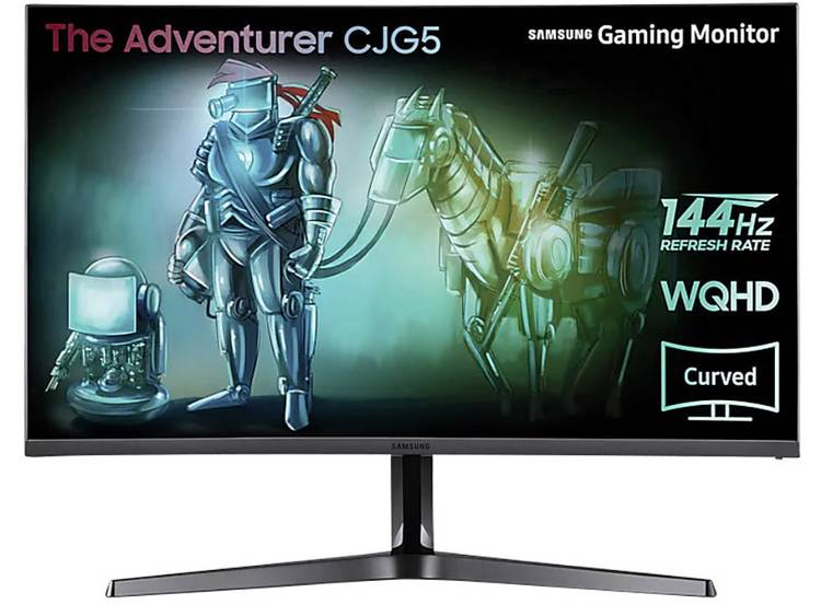 Samsung C32JG50QQU Gaming monitor 80 cm (31.5 inch) Energielabel B (A++ – E) 2560 x 1440 pix WQHD 4 ms HDMI, DisplayPort, Audio, stereo (3.5 mm jackplug) VA LED