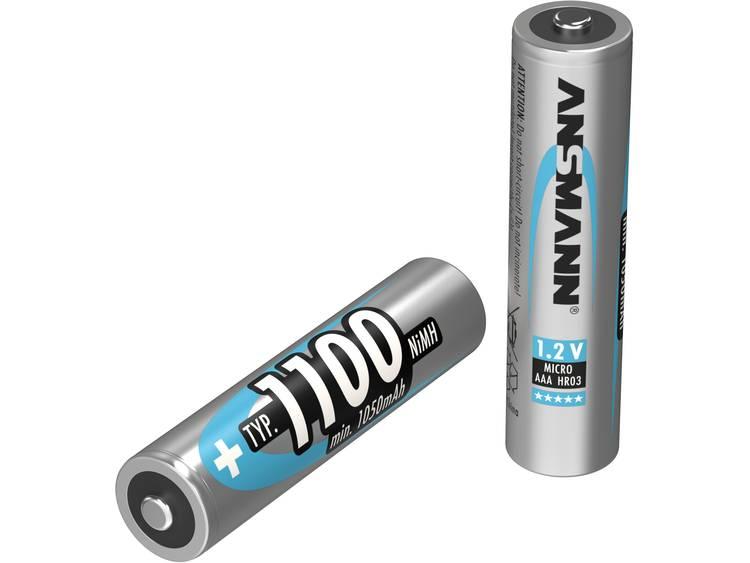 Oplaadbare AAA batterij (potlood) Ansmann maxE HR03 NiMH 1100 mAh 1.2 V 1 stuk(s)