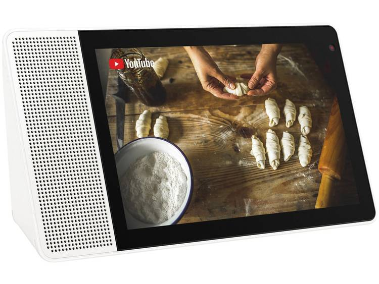 Lenovo 8 HD Smart Display Slimme luidspreker Wit, Hout