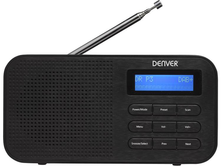 Denver DAB-42 DAB+ Transistorradio FM Zwart