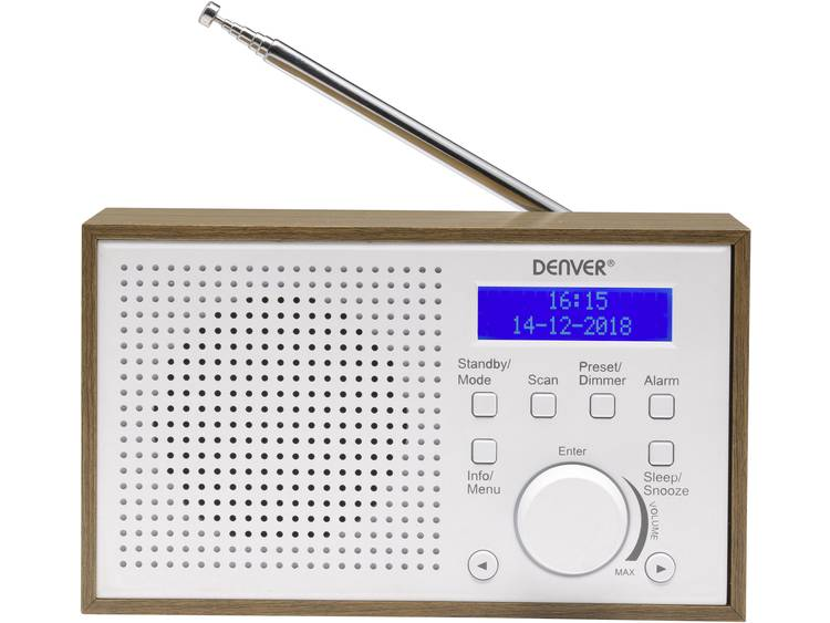 Denver DAB-46 DAB+ Tafelradio FM Wit