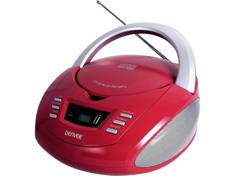 Denver TCU-211 FM CD-radio AUX, USB, CD Rood