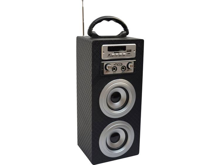MSA Musikinstrumente KBQ33 Bluetooth luidspreker AUX, FM radio, SD, USB Carbon