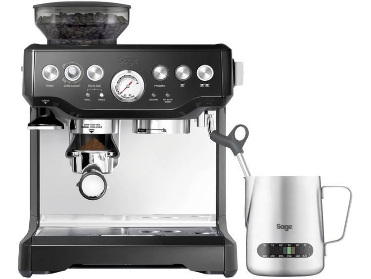 Espressomachine Sage The Barista Express RVS, Zwart 2400 W Met koffiemolen, Met melkopschuimer
