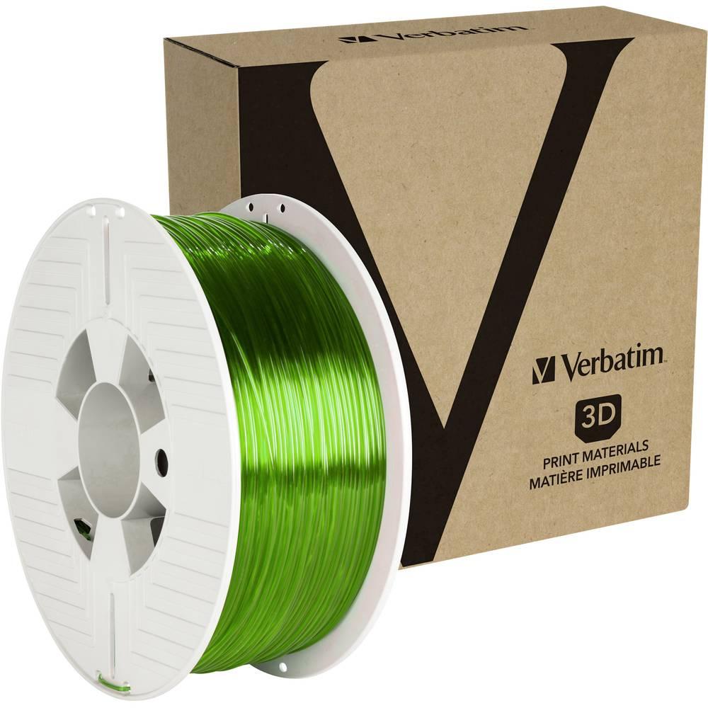 Verbatim 55057 3D-skrivare Filament PETG 1.75 mm 1 kg Grön (transparent) 1 st