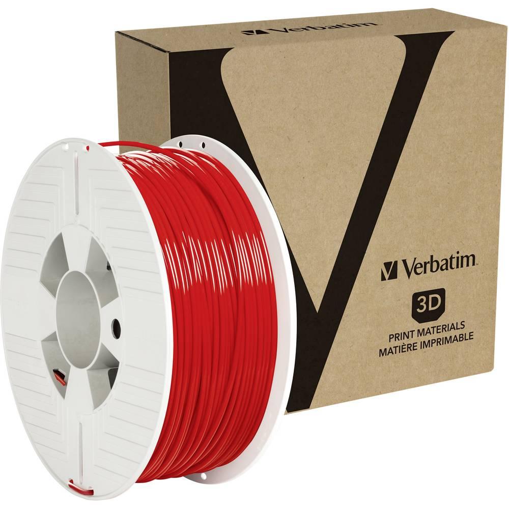Verbatim 55061 3D-skrivare Filament PETG 2.85 mm 1 kg Röd 1 st