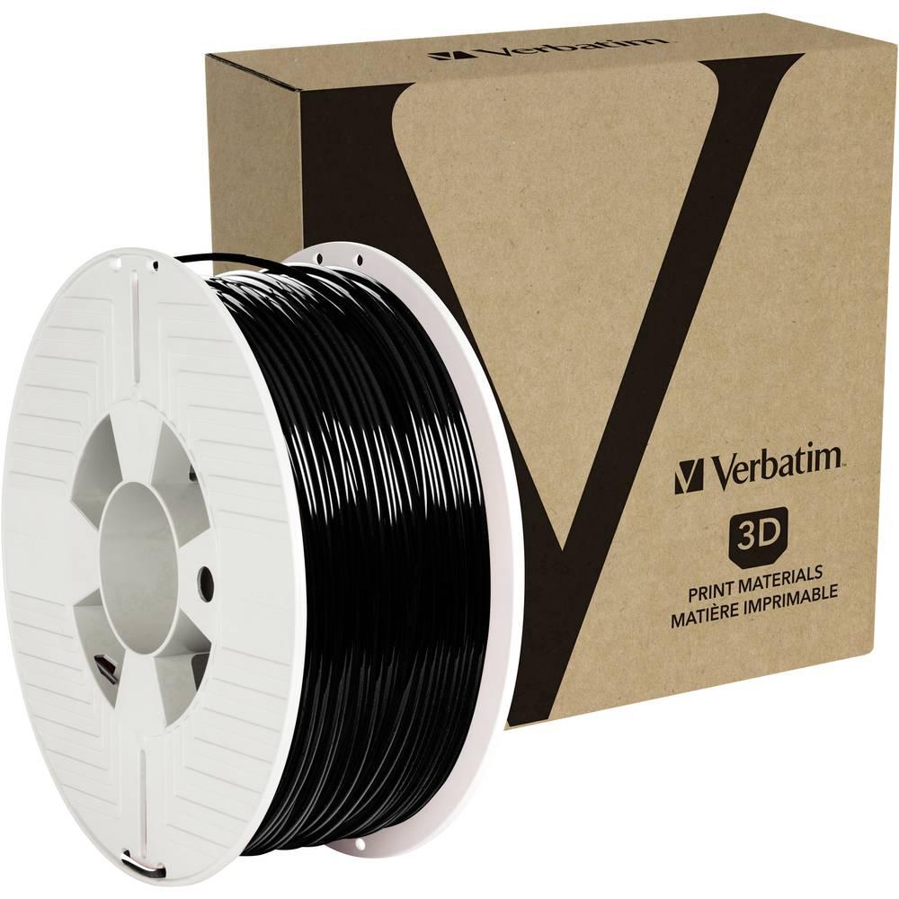 Verbatim 55060 3D-skrivare Filament PETG 2.85 mm 1 kg Svart 1 st
