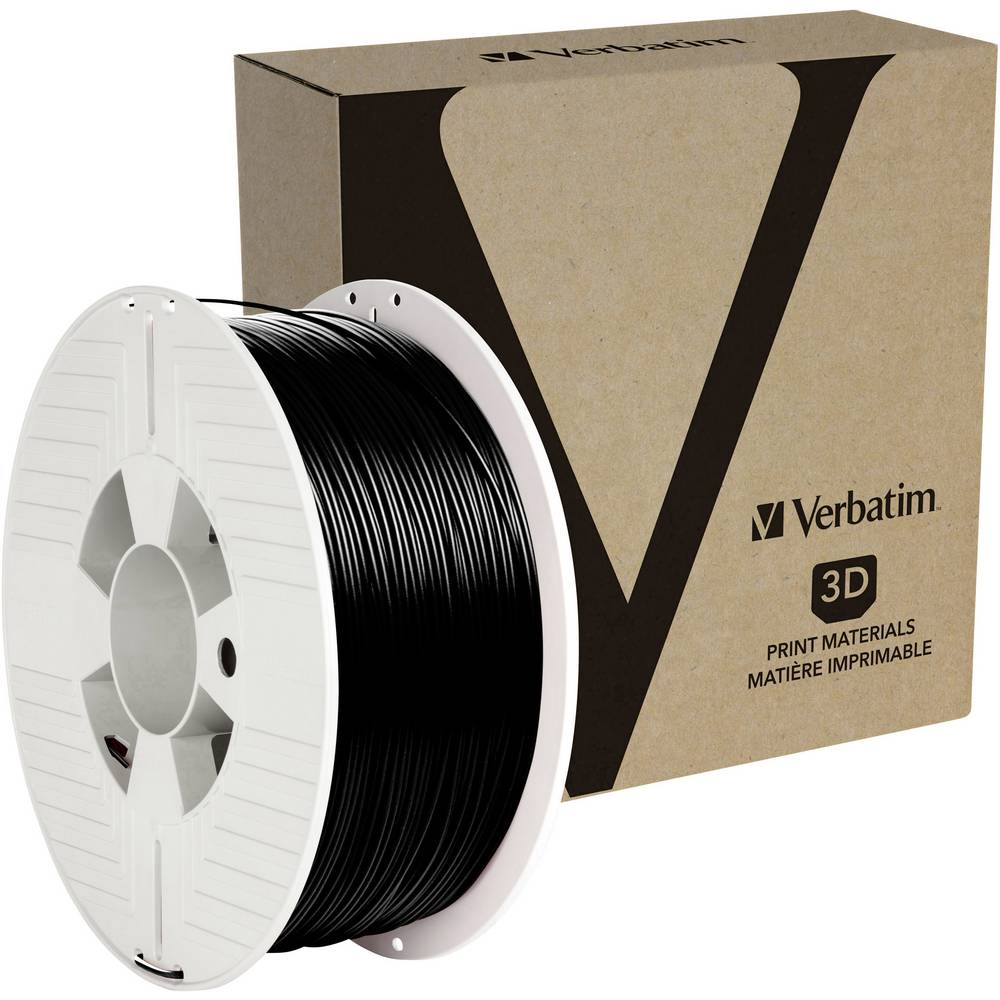 Verbatim 55052 3D-skrivare Filament PETG 1.75 mm 1 kg Svart 1 st