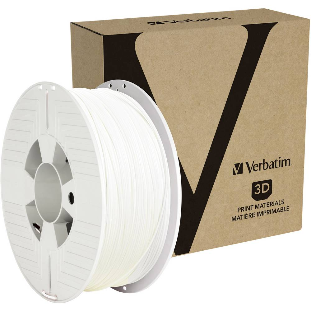 Verbatim 55050 3D-skrivare Filament PETG 1.75 mm 1 kg Vit 1 st