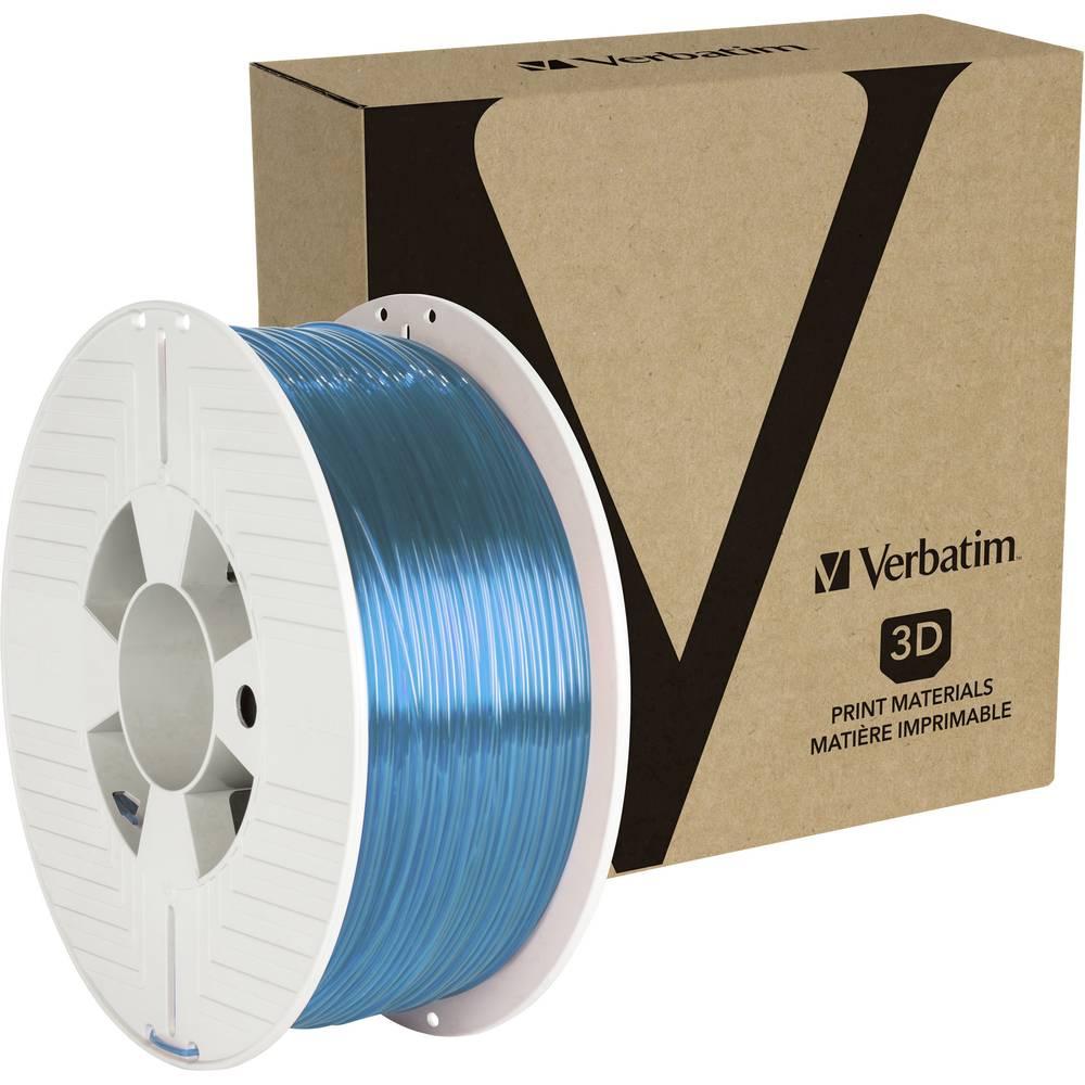 Verbatim 55056 3D-skrivare Filament PETG 1.75 mm 1 kg Blå (transparent) 1 st