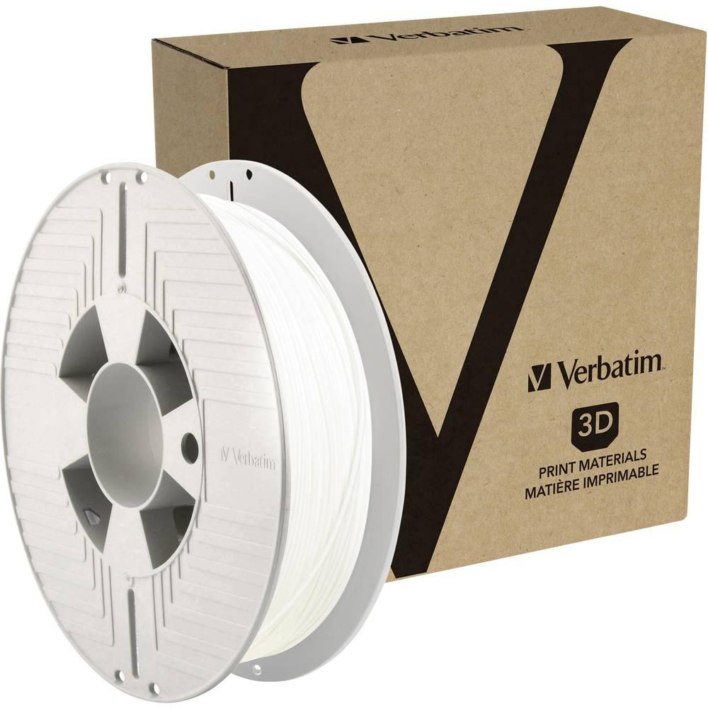 Verbatim 55150 3D-skrivare Filament 1.75 mm 500 g Vit 1 st