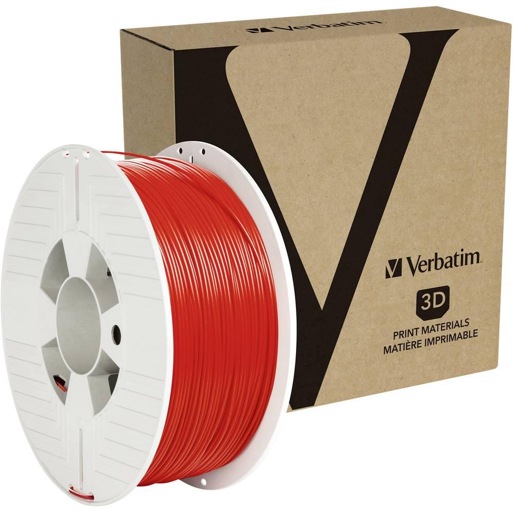 Verbatim 55053 3D-skrivare Filament PETG 1.75 mm 1 kg Röd 1 st