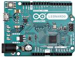 Similar to an Arduino UNO, can be recognized by computer as a mouse or keyboard.
