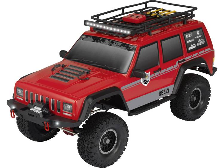 Reely Free Men Pro 1:10 Brushed RC auto Elektro Crawler 4WD 100% RTR 2,4 GHz Incl. accu, oplader en