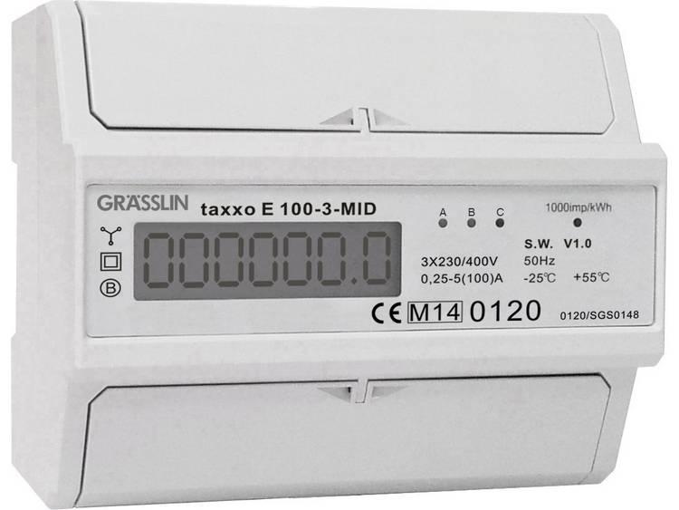 Grässlin TAXXO E 100-3-MID 230-400V 50HZ E-teller Digitaal Conform MID: Ja
