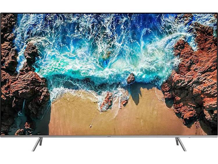 Samsung UE82NU8009 LED-TV 207 cm 82 inch Energielabel: A (A++ – E) Twin DVB-T2/C/S2, UHD, Smart TV, WiFi, PVR ready Zwart, Zilver